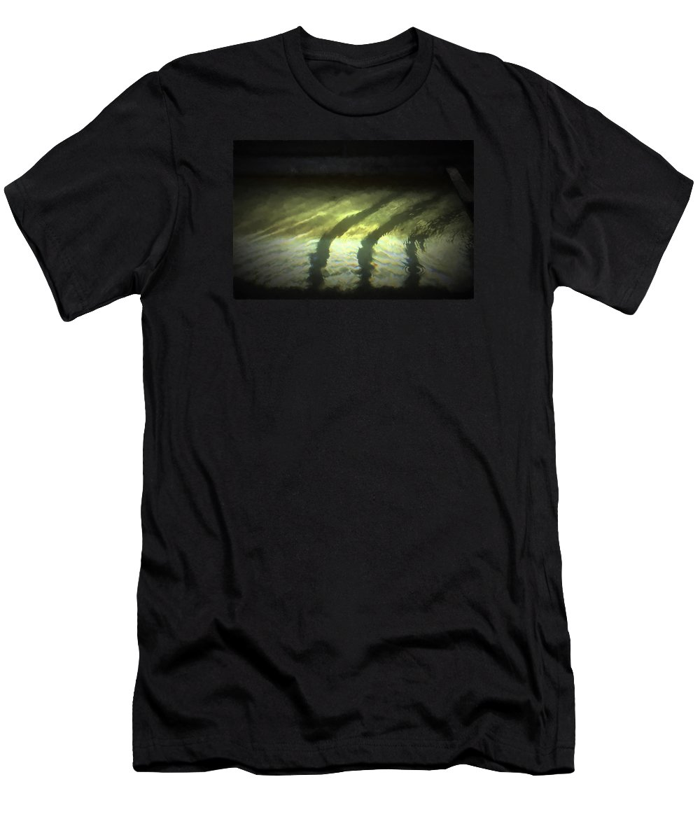 Abstract Men's T-Shirt (Athletic Fit) featuring the photograph 48 by Garth Pillsbury