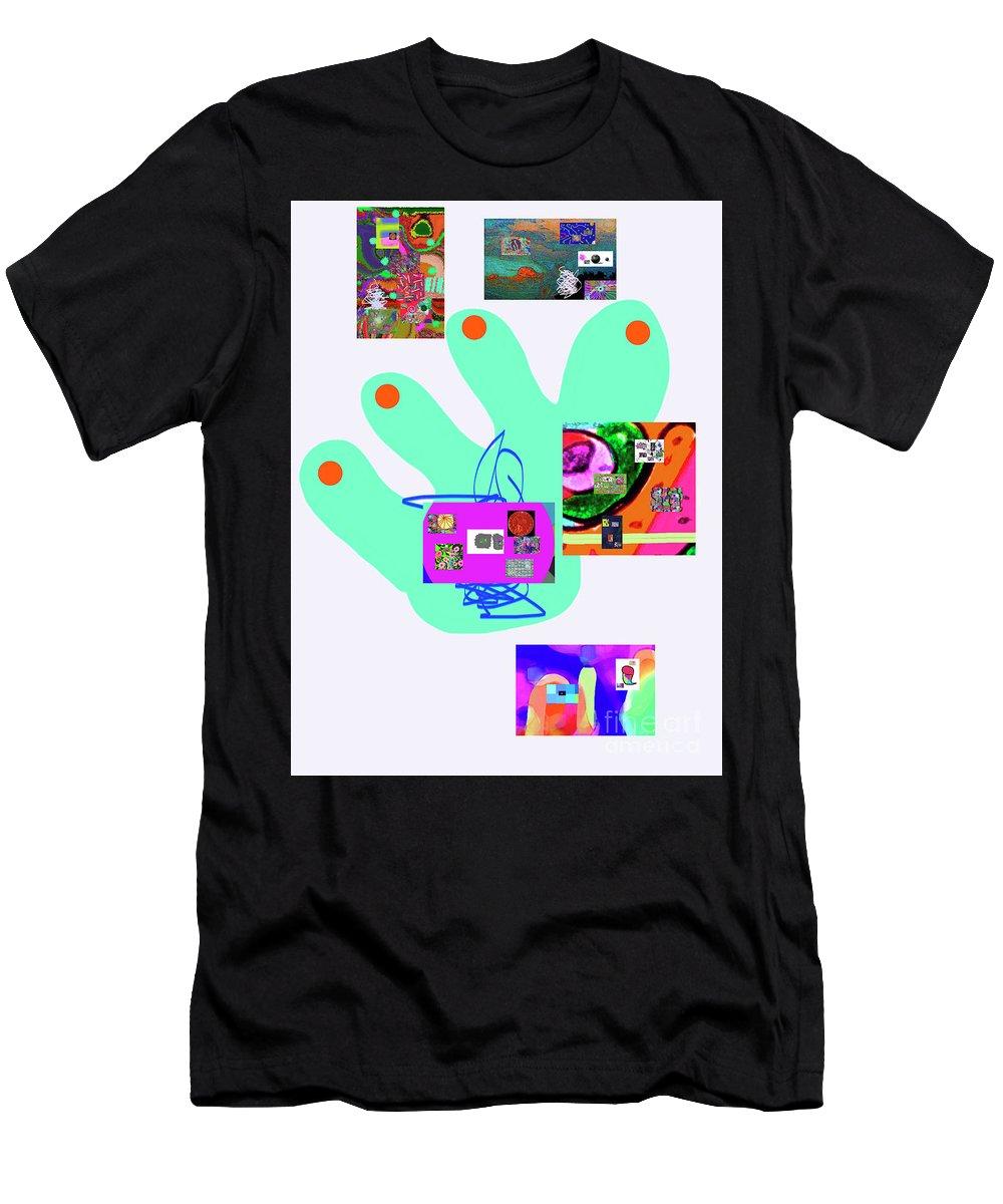 Walter Paul Bebirian Men's T-Shirt (Athletic Fit) featuring the digital art 5-5-2015babcdefghijklmnopqrtuvwxyzabcdefg by Walter Paul Bebirian
