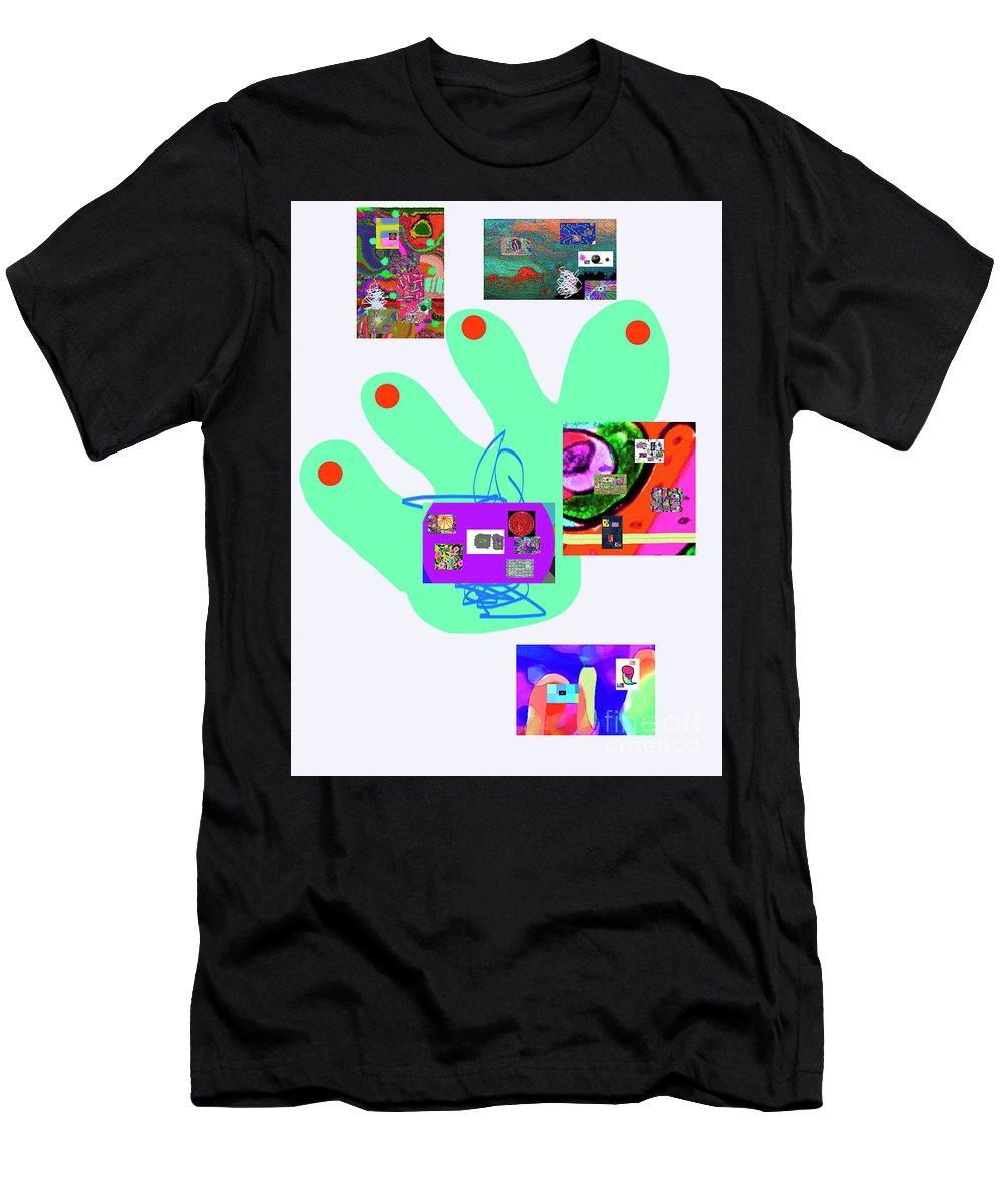 Walter Paul Bebirian Men's T-Shirt (Athletic Fit) featuring the digital art 5-5-2015babcdefghijklmnopqrtuvwxyzabcdefgh by Walter Paul Bebirian