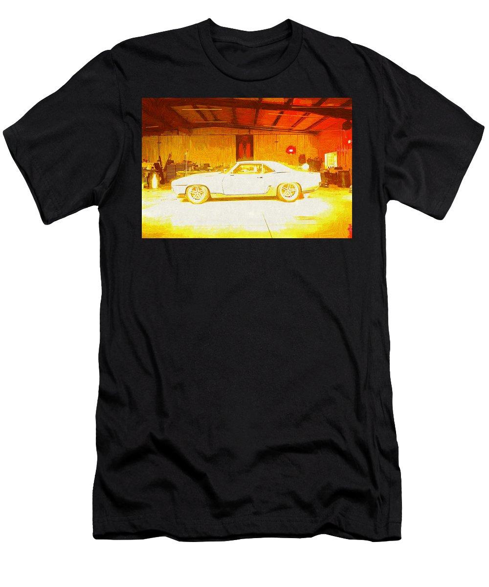 Chevrolet Camaro Men's T-Shirt (Athletic Fit) featuring the digital art Chevrolet Camaro by Lora Battle