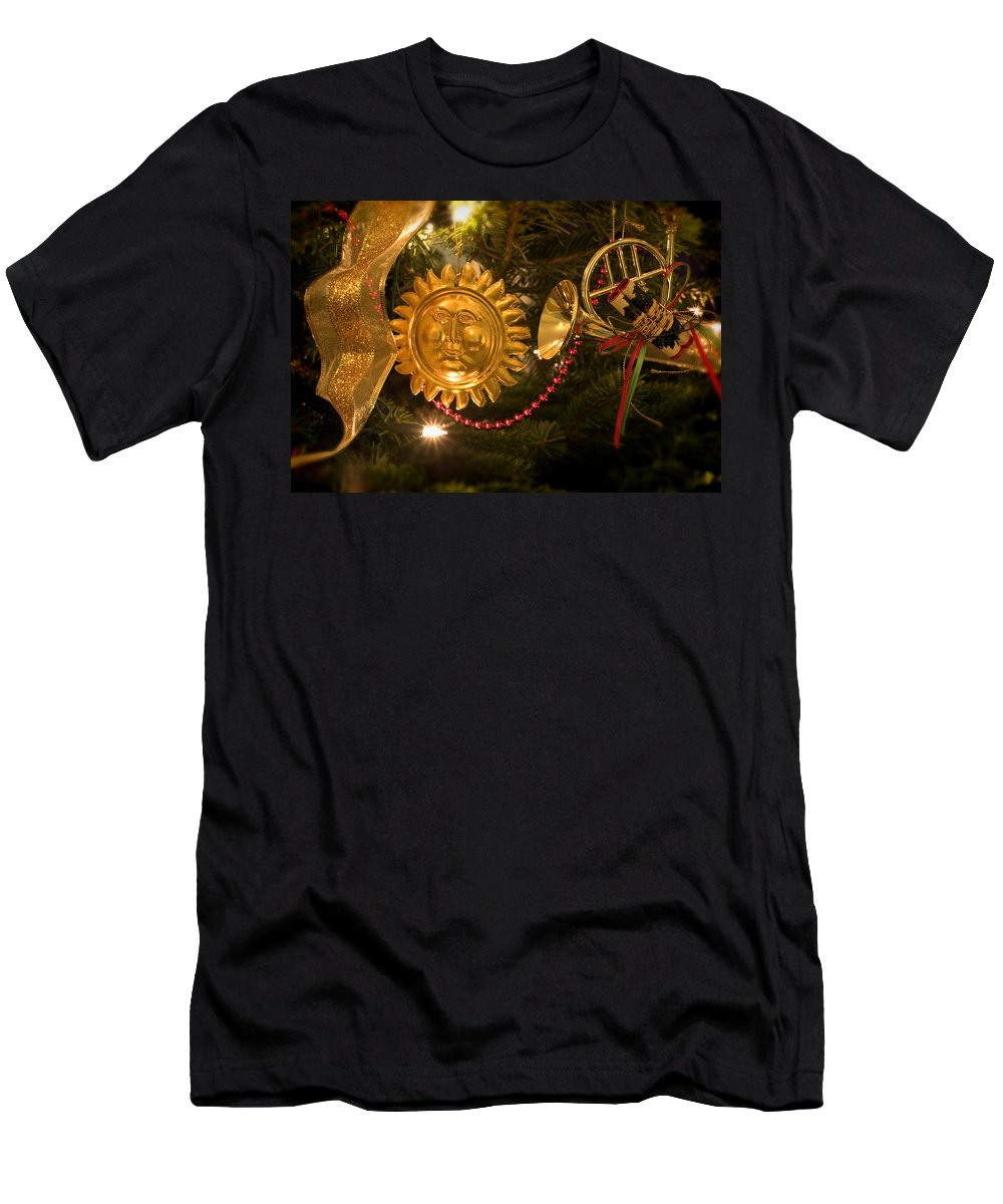 Christmas Men's T-Shirt (Athletic Fit) featuring the photograph Christmas Tree Decorations by Mal Bray