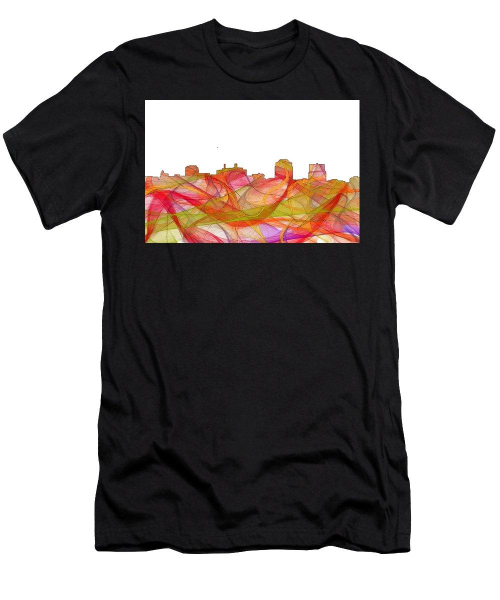 Colorado Springs Colorado Skylineskyline Men's T-Shirt (Athletic Fit) featuring the digital art Colorado Springs Colorado Skyline by Marlene Watson