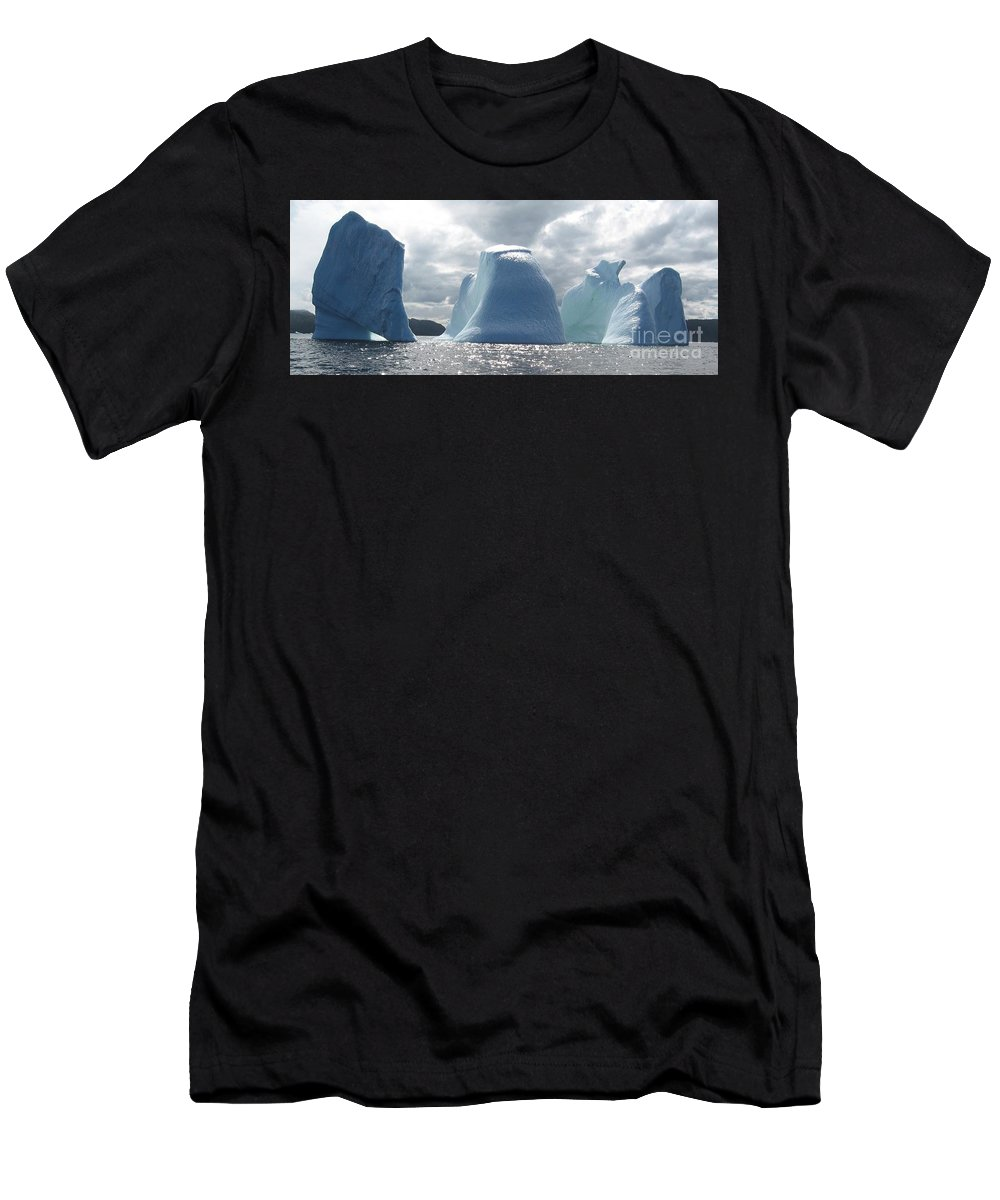 Iceberg Photograph Ice Water Ocean Altantic Newfoundland Summer Men's T-Shirt (Athletic Fit) featuring the photograph Iceberg by Seon-Jeong Kim