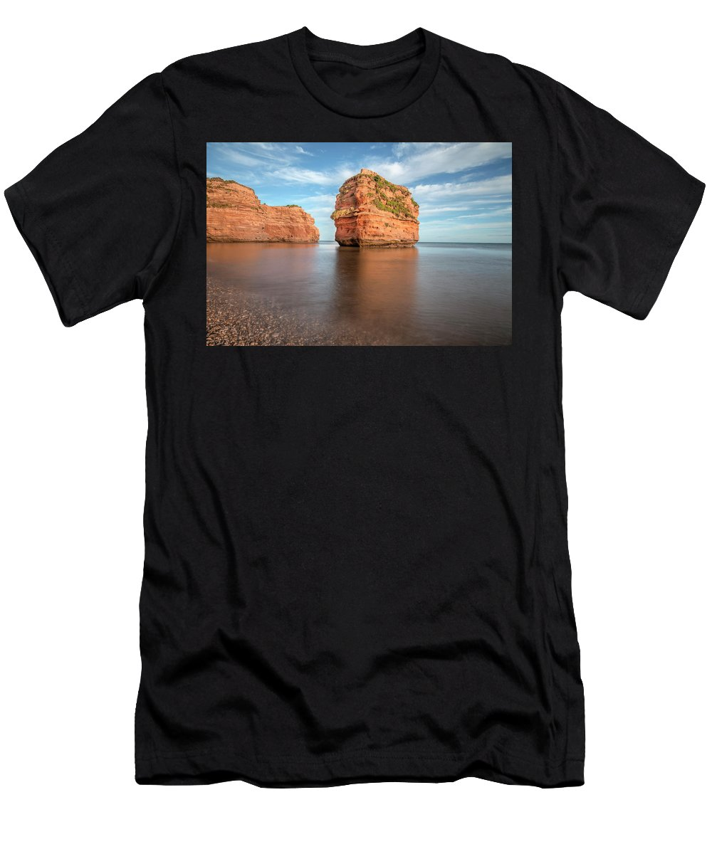 Ladram Bay Men's T-Shirt (Athletic Fit) featuring the photograph Ladram Bay - England by Joana Kruse