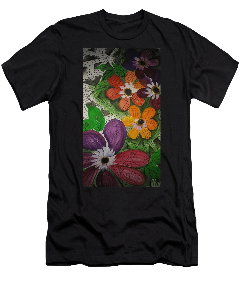 One Stroke Painting Men's T-Shirt (Athletic Fit) featuring the painting One Stroke Painting by Priyanka M