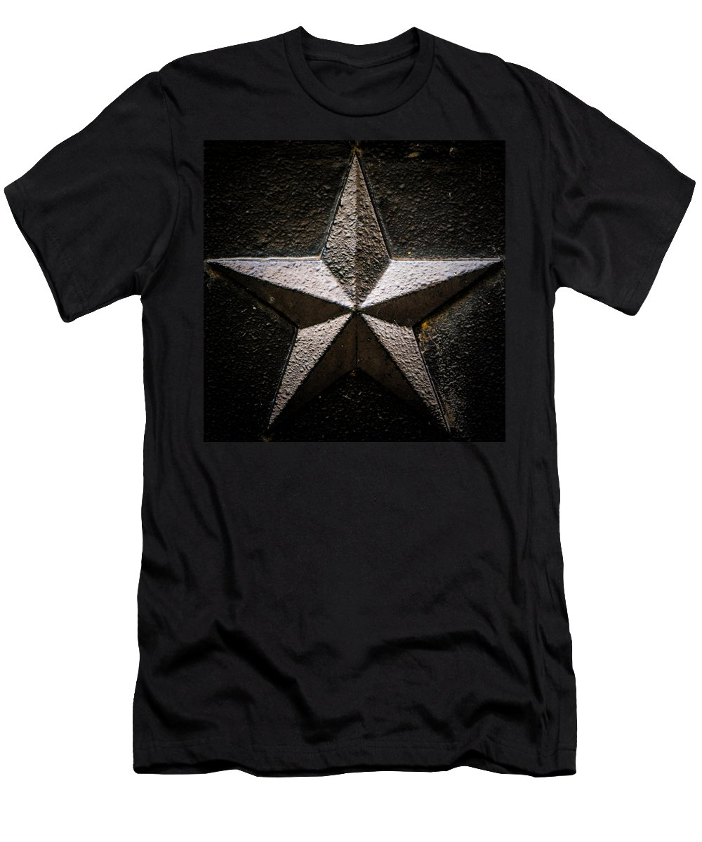 Star Men's T-Shirt (Athletic Fit) featuring the photograph 5-pointed Star by Greg Collins