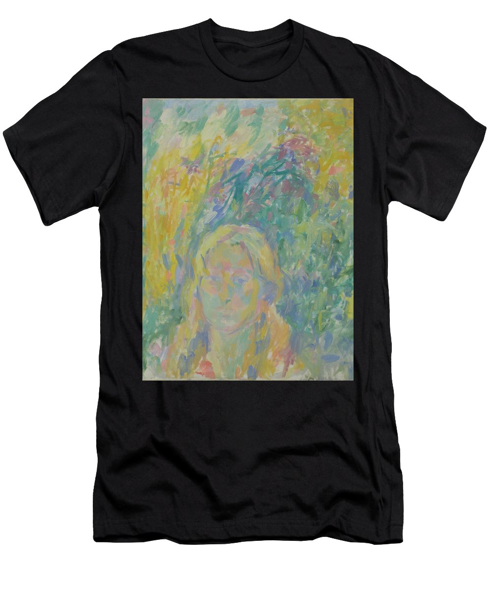 Park Men's T-Shirt (Athletic Fit) featuring the painting Portrait by Robert Nizamov