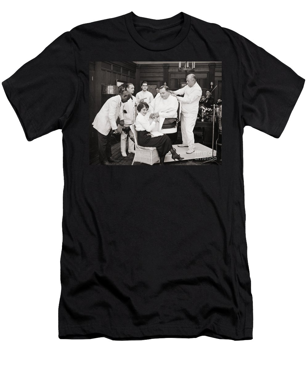 -barbers & Beatuy Salons- Men's T-Shirt (Athletic Fit) featuring the photograph Silent Still: Barber Shop by Granger