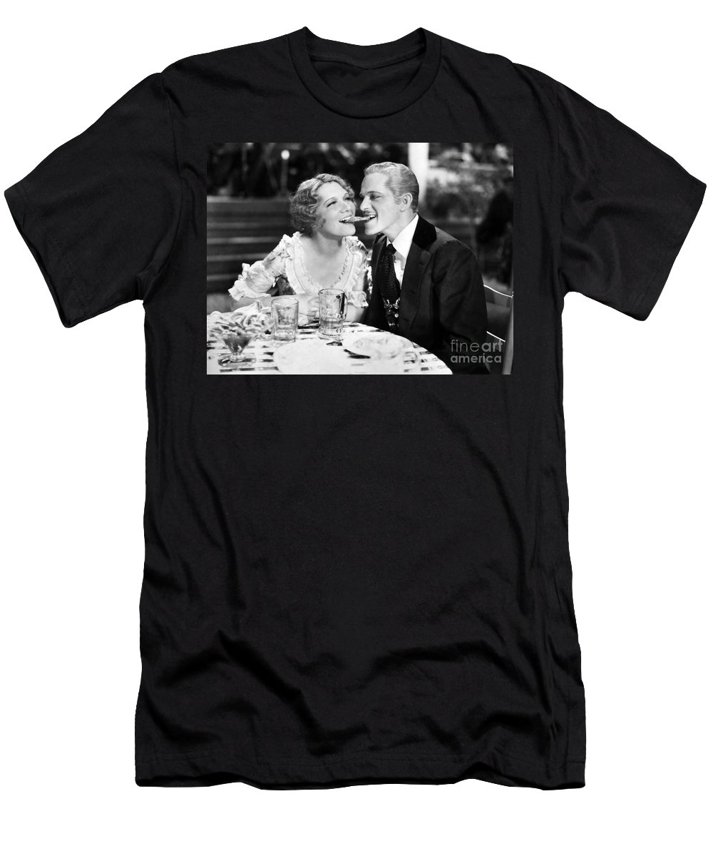 -one Man One Woman- Men's T-Shirt (Athletic Fit) featuring the photograph Silent Still: Man & Woman by Granger