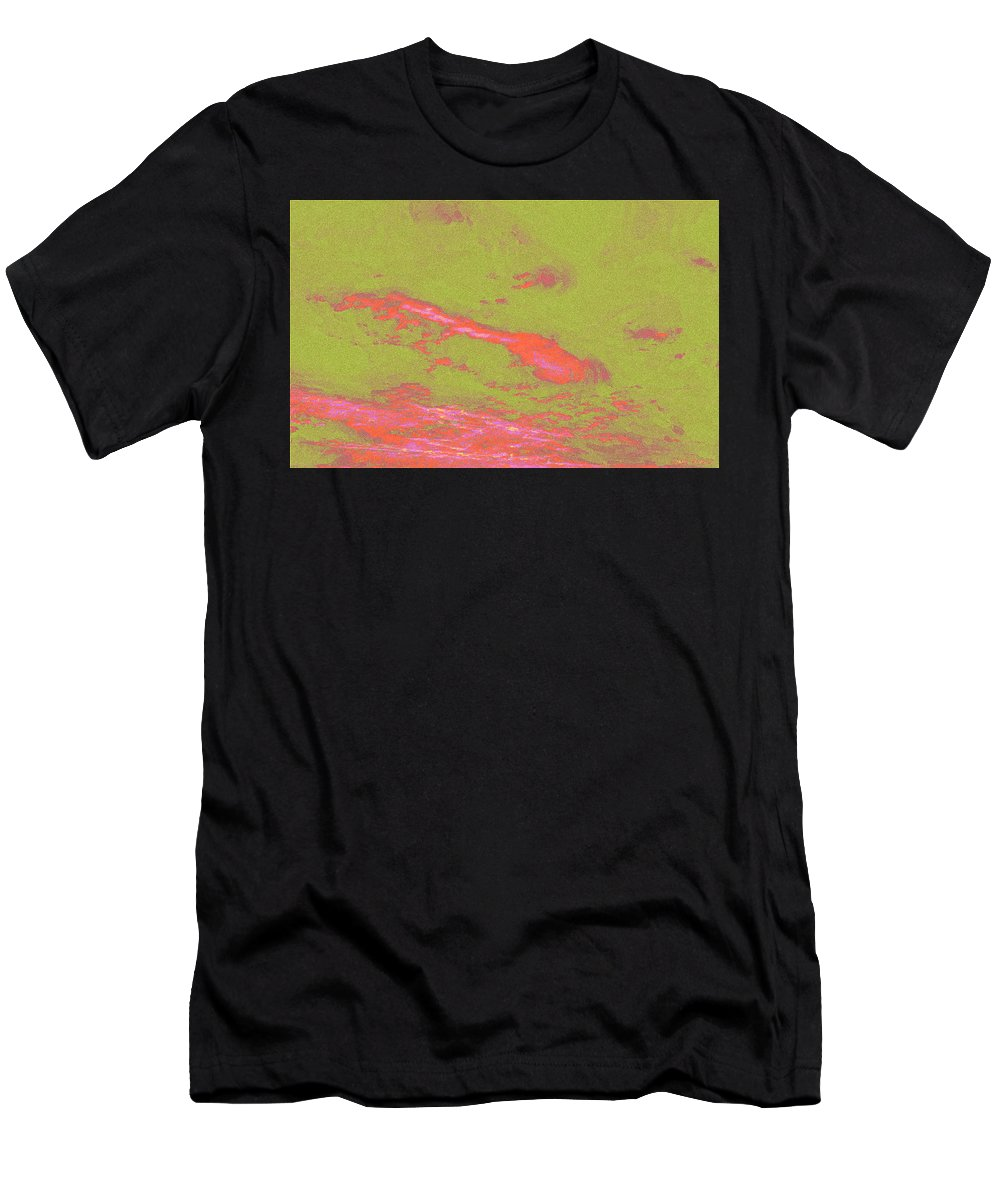 Sky Men's T-Shirt (Athletic Fit) featuring the digital art Sky by Lora Battle