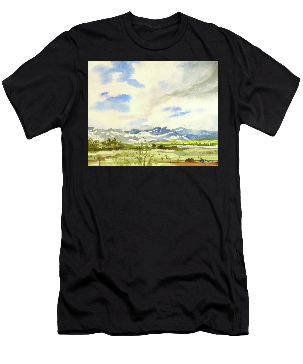 Men's T-Shirt (Athletic Fit) featuring the painting Watercolor by Ugljesa Janjic