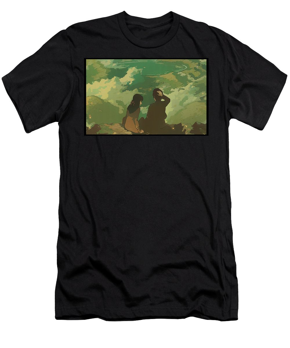 Your Name. Men's T-Shirt (Athletic Fit) featuring the digital art Your Name. by Lora Battle