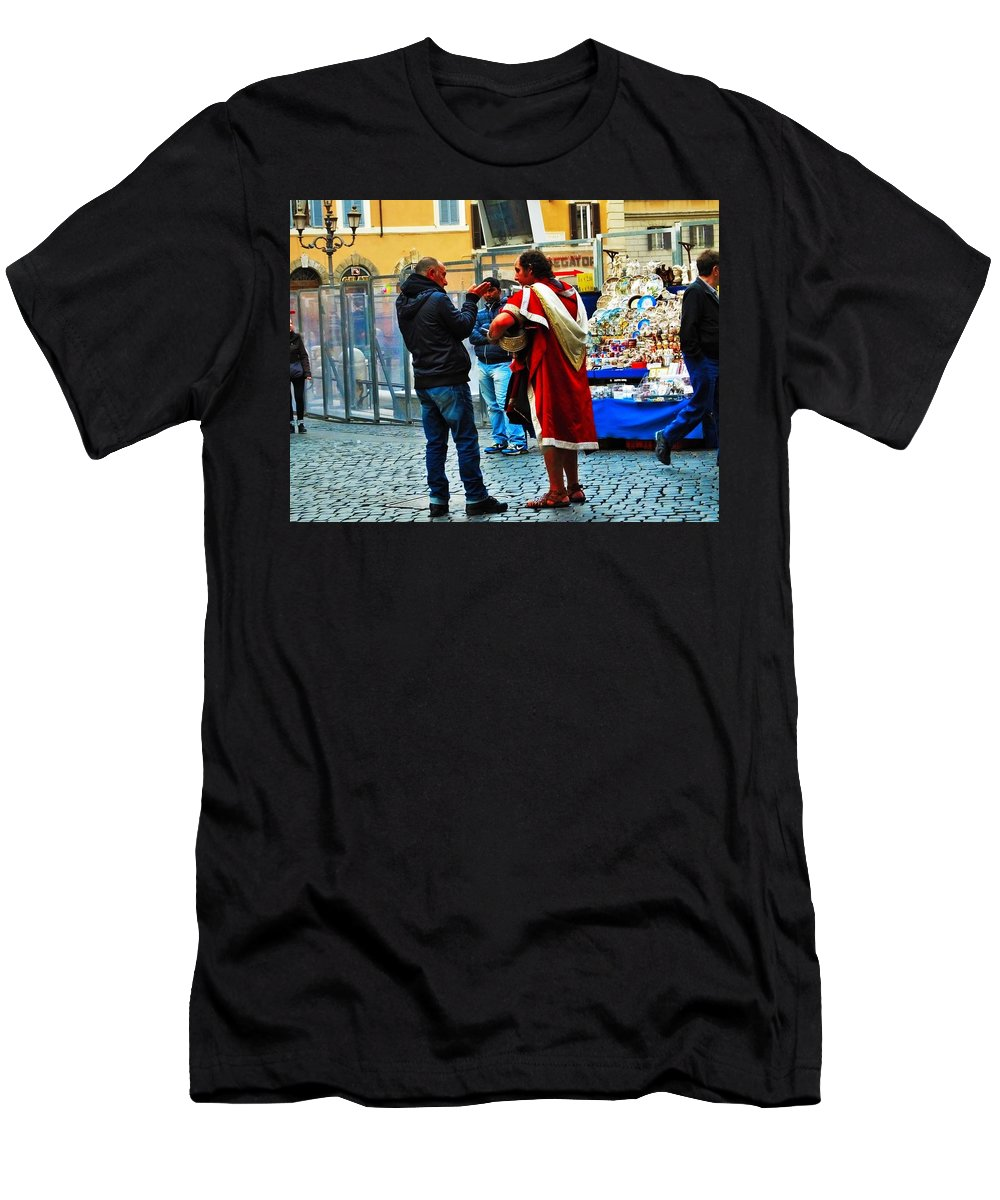 Men's T-Shirt (Athletic Fit) featuring the photograph winter in Rome by Gianni Bussu