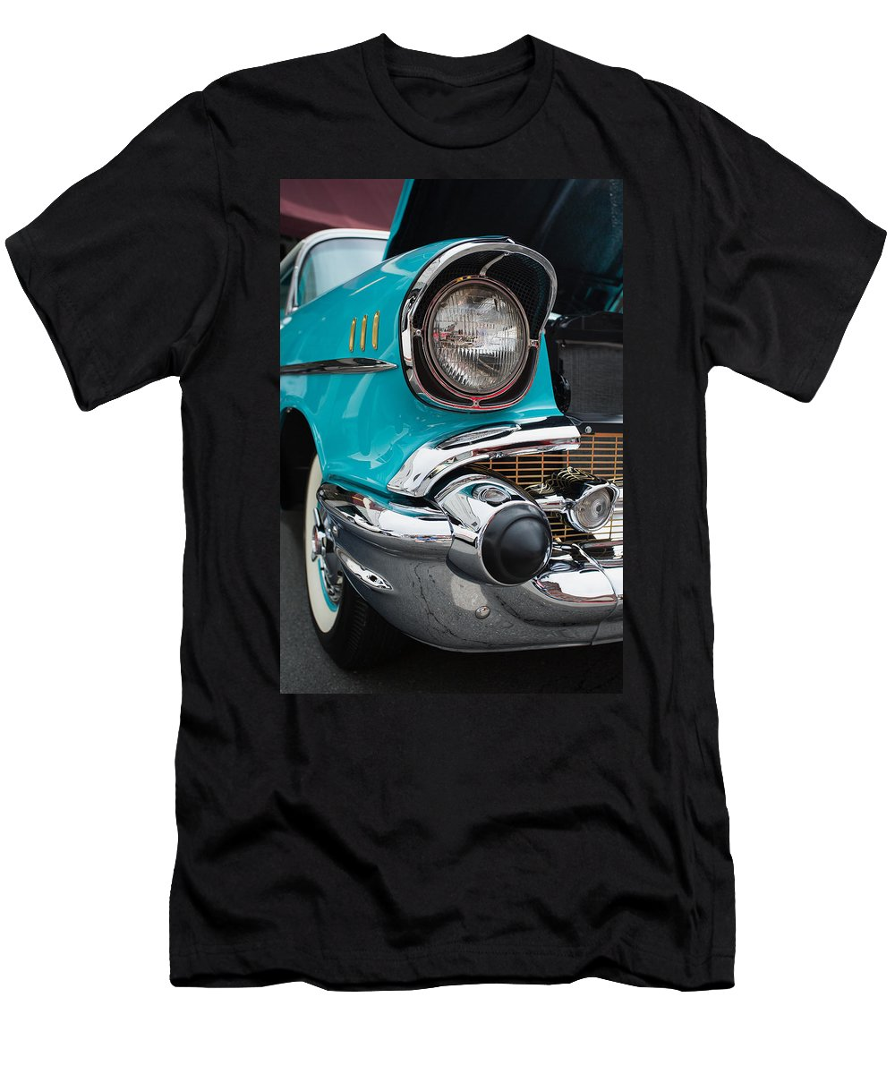 Cindy Archbell Men's T-Shirt (Athletic Fit) featuring the photograph 57 Chevy by Cindy Archbell