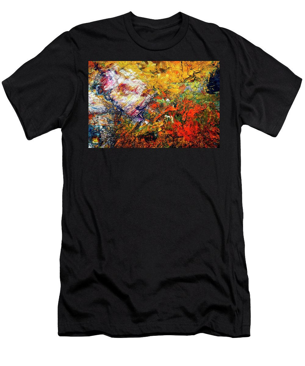 Craftsmanship Men's T-Shirt (Athletic Fit) featuring the painting Abstract by Michal Boubin