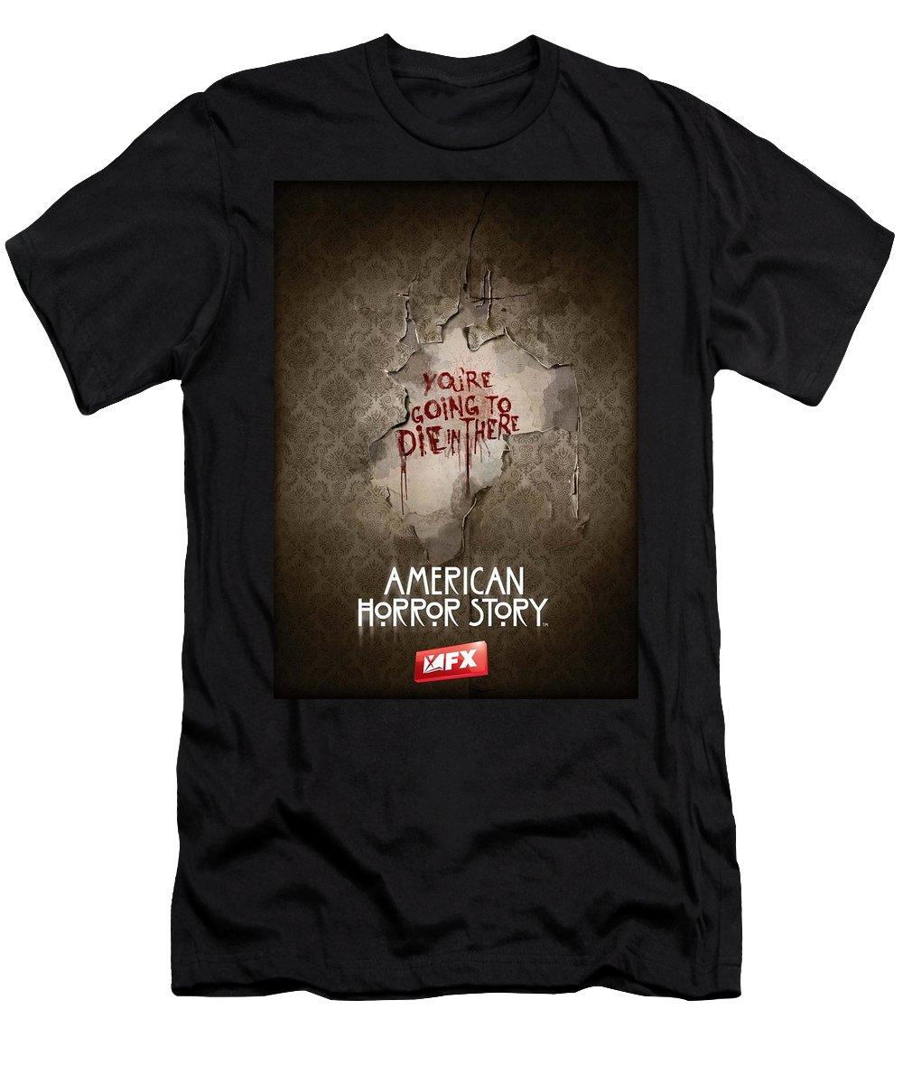 American Horror Story 2011 Men's T-Shirt (Athletic Fit) featuring the digital art American Horror Story 2011 by Geek N Rock