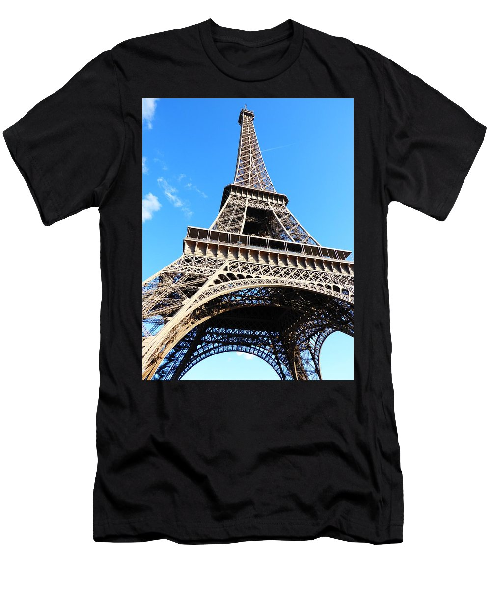Europe Men's T-Shirt (Athletic Fit) featuring the photograph Eiffel Tower by FL collection