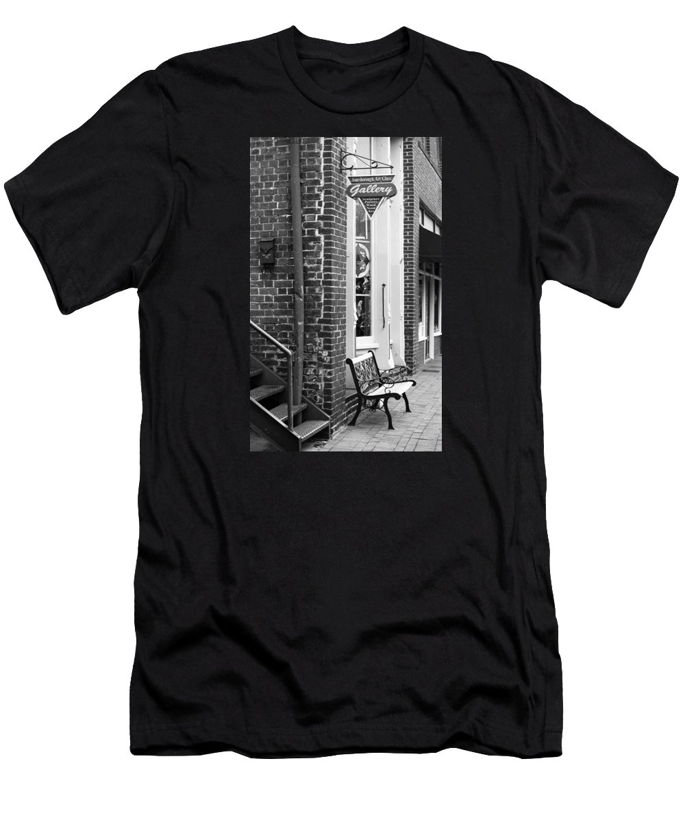 America Men's T-Shirt (Athletic Fit) featuring the photograph Jonesborough Tennessee - Main Street by Frank Romeo