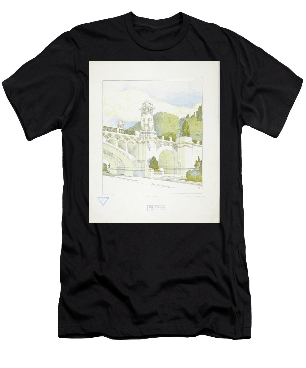 Max Joseph Gradl Men's T-Shirt (Athletic Fit) featuring the painting Modern Design by Joseph Gradl