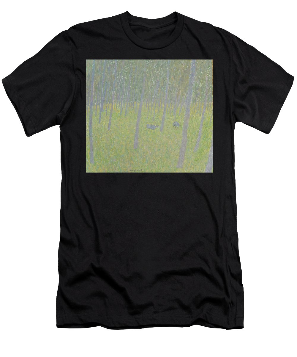 Sheep Men's T-Shirt (Athletic Fit) featuring the painting Forest by Robert Nizamov