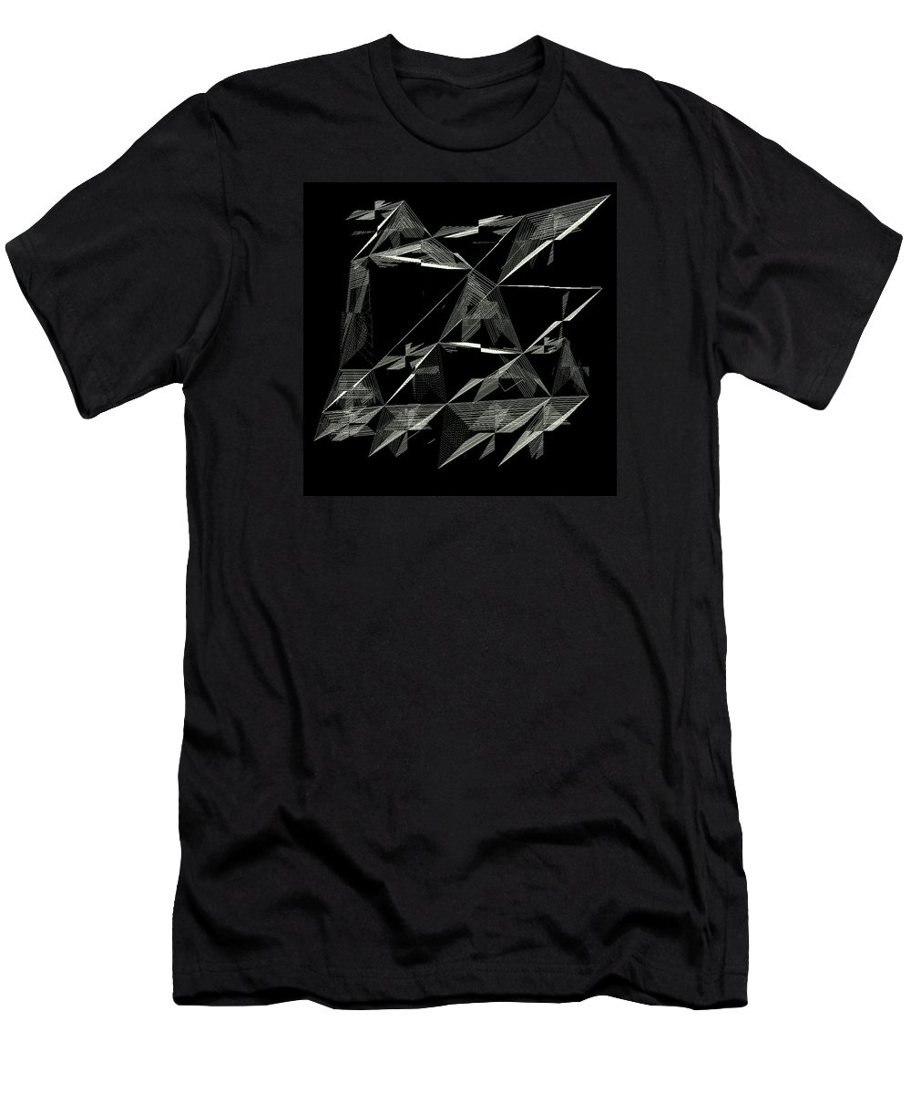 Abstract Men's T-Shirt (Athletic Fit) featuring the digital art 6144.2.3 by Gareth Lewis