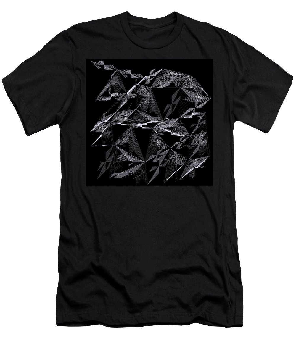 Abstract Men's T-Shirt (Athletic Fit) featuring the digital art 6144.2.4 by Gareth Lewis