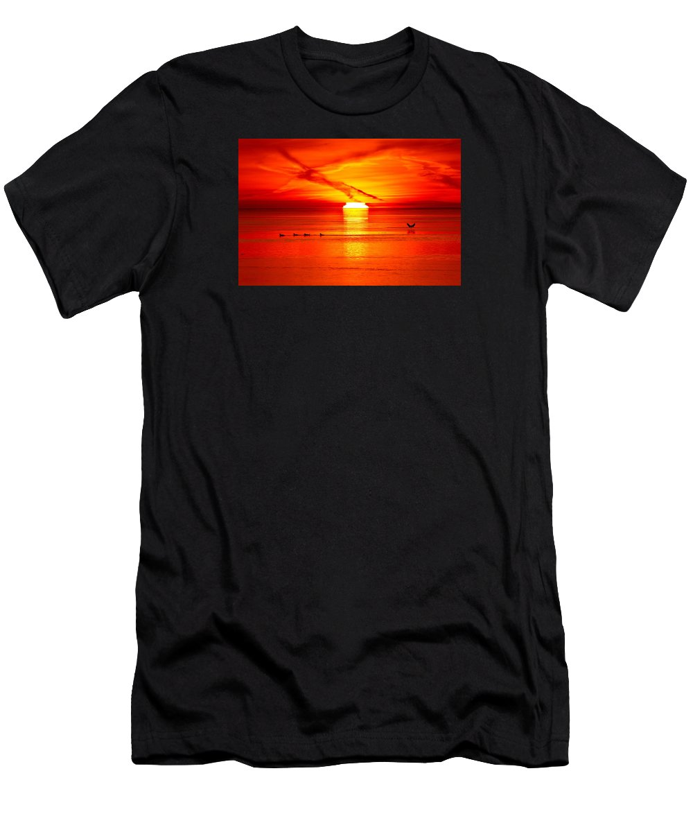 Abstract Men's T-Shirt (Athletic Fit) featuring the photograph 6.31.14 Am April 17-2016  by Lyle Crump