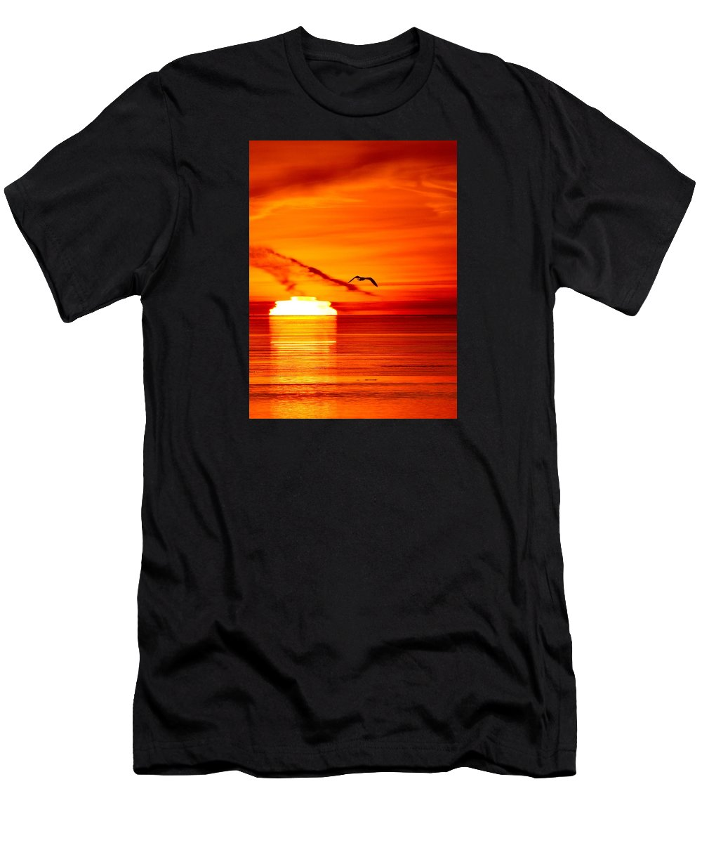 Abstract Men's T-Shirt (Athletic Fit) featuring the photograph 6.31.24 Am April 17-2016 Two 3 by Lyle Crump