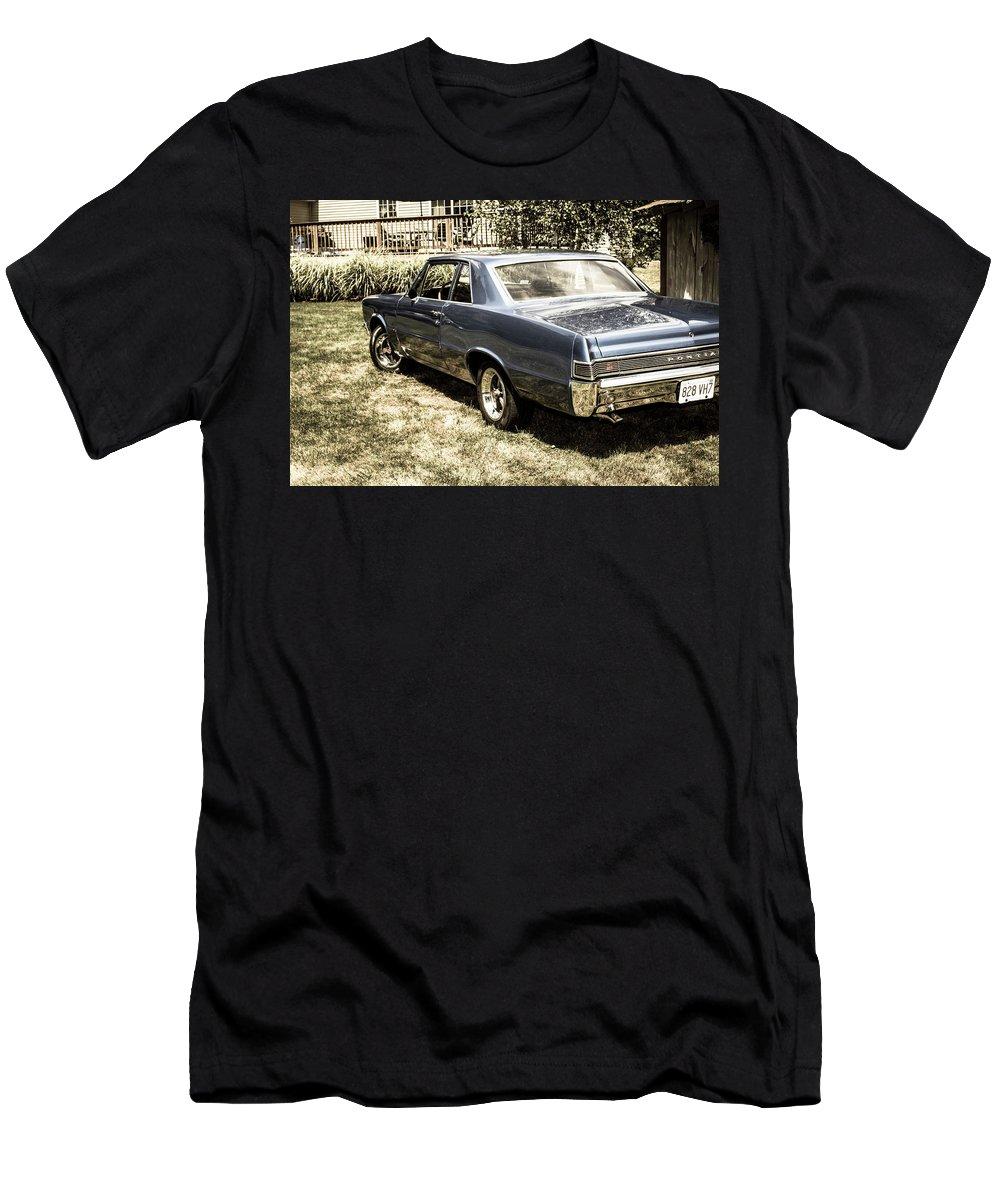 Lemans Men's T-Shirt (Athletic Fit) featuring the photograph Classic Cars by Mickie Bettez