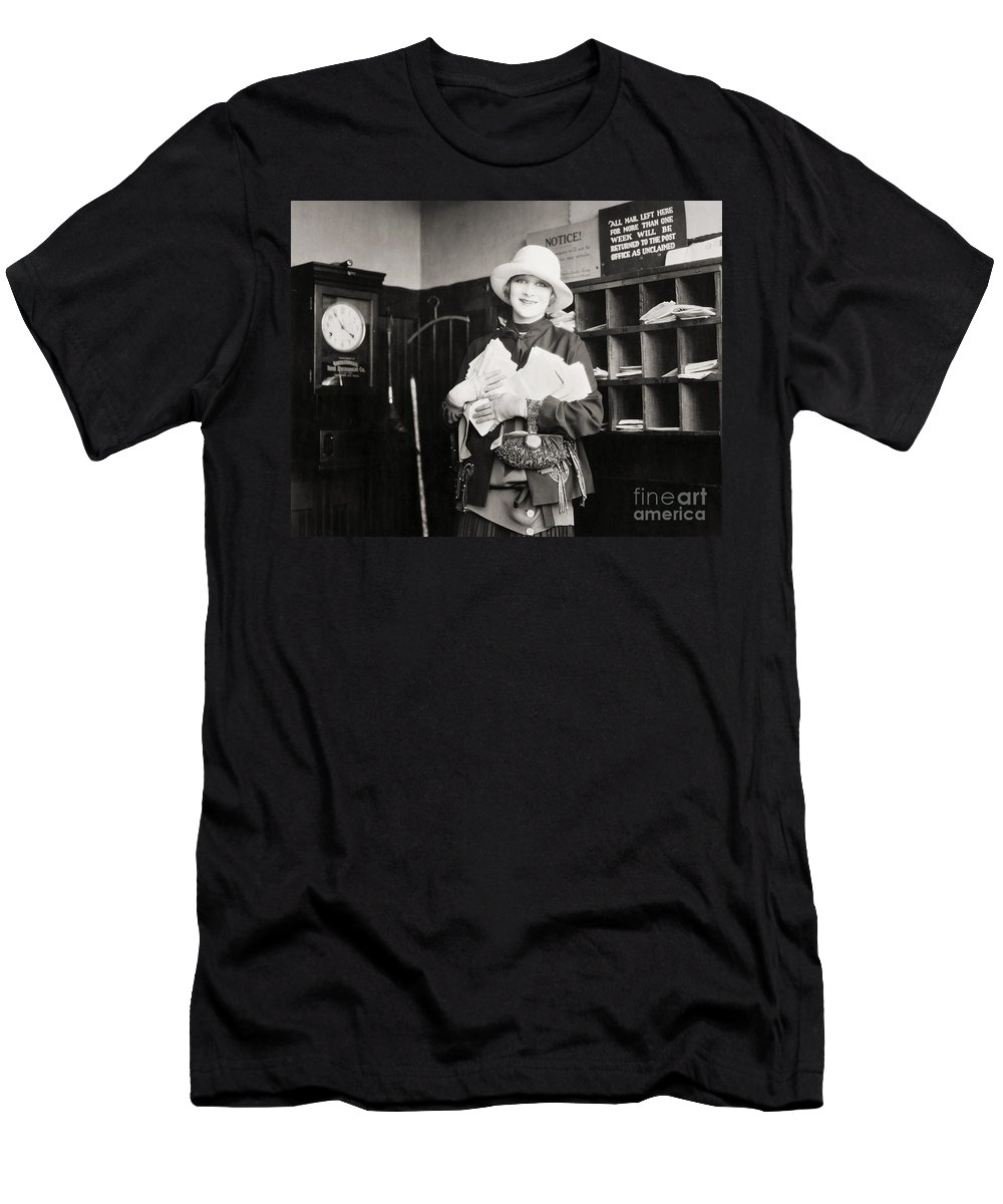 -women Single Figures- Men's T-Shirt (Athletic Fit) featuring the photograph Silent Film Still: Woman by Granger