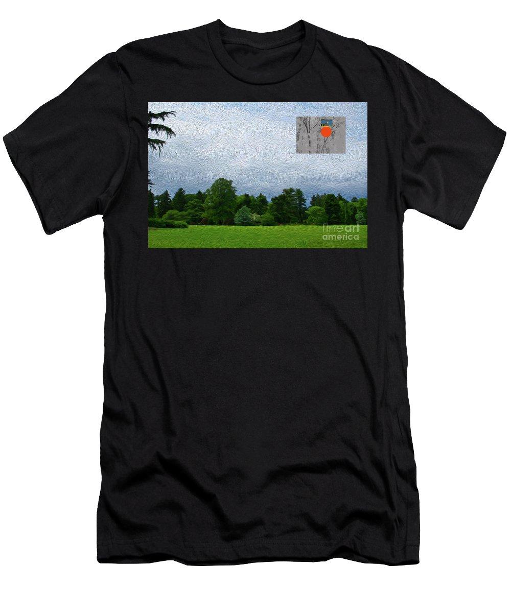 Walter Paul Bebirian Men's T-Shirt (Athletic Fit) featuring the digital art 7-16-3057c by Walter Paul Bebirian