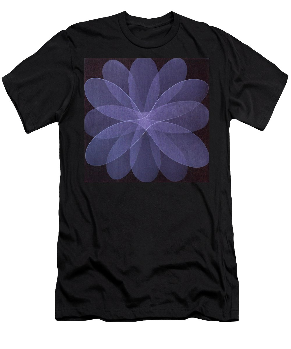 Abstract Men's T-Shirt (Athletic Fit) featuring the painting Abstract Flower by Jitka Anlaufova