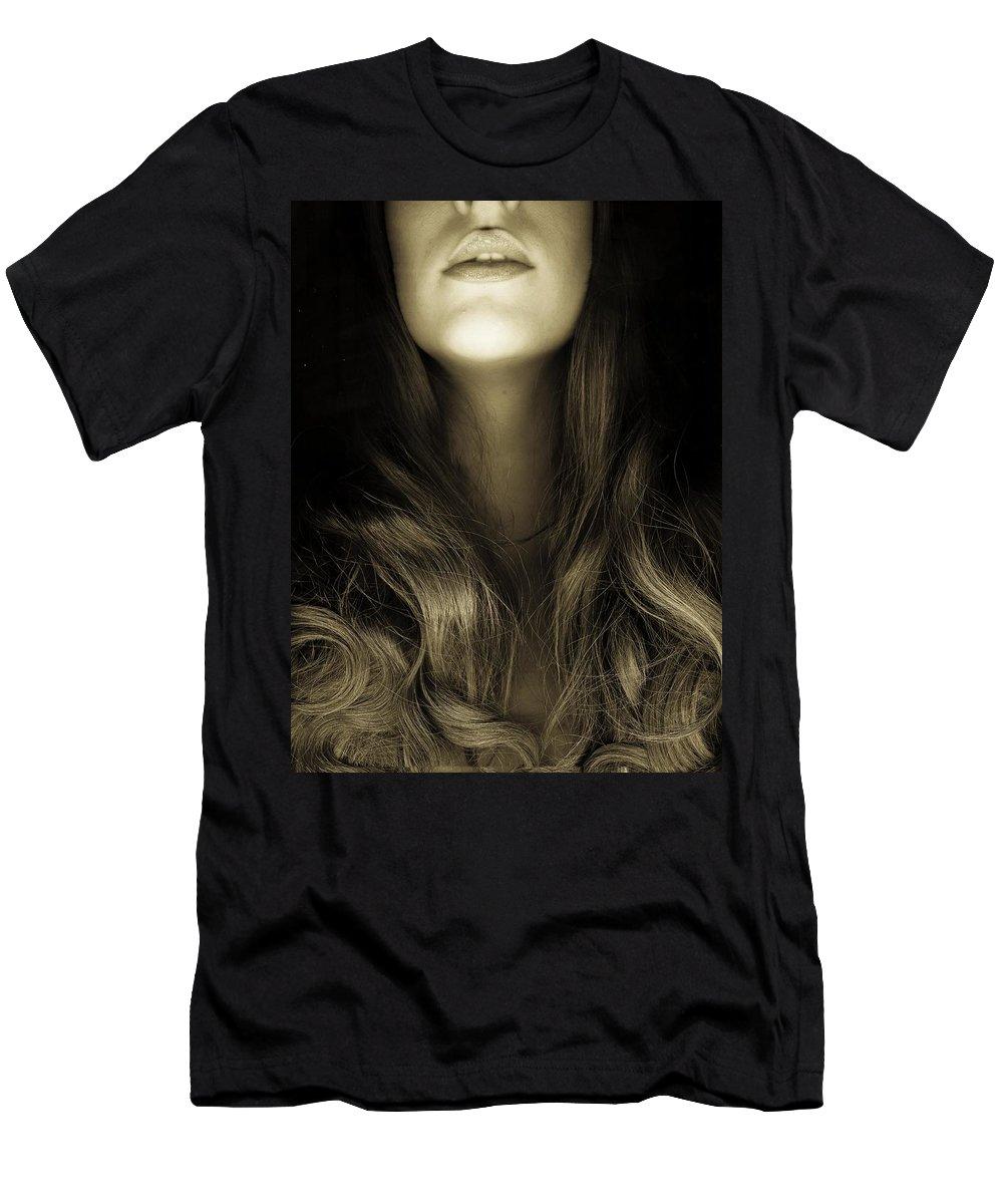 Art Men's T-Shirt (Athletic Fit) featuring the photograph Beautiful Woman by Irina Lesch
