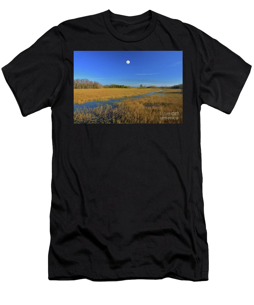 Everglades Men's T-Shirt (Athletic Fit) featuring the photograph 7- Everglades Moon by Joseph Keane