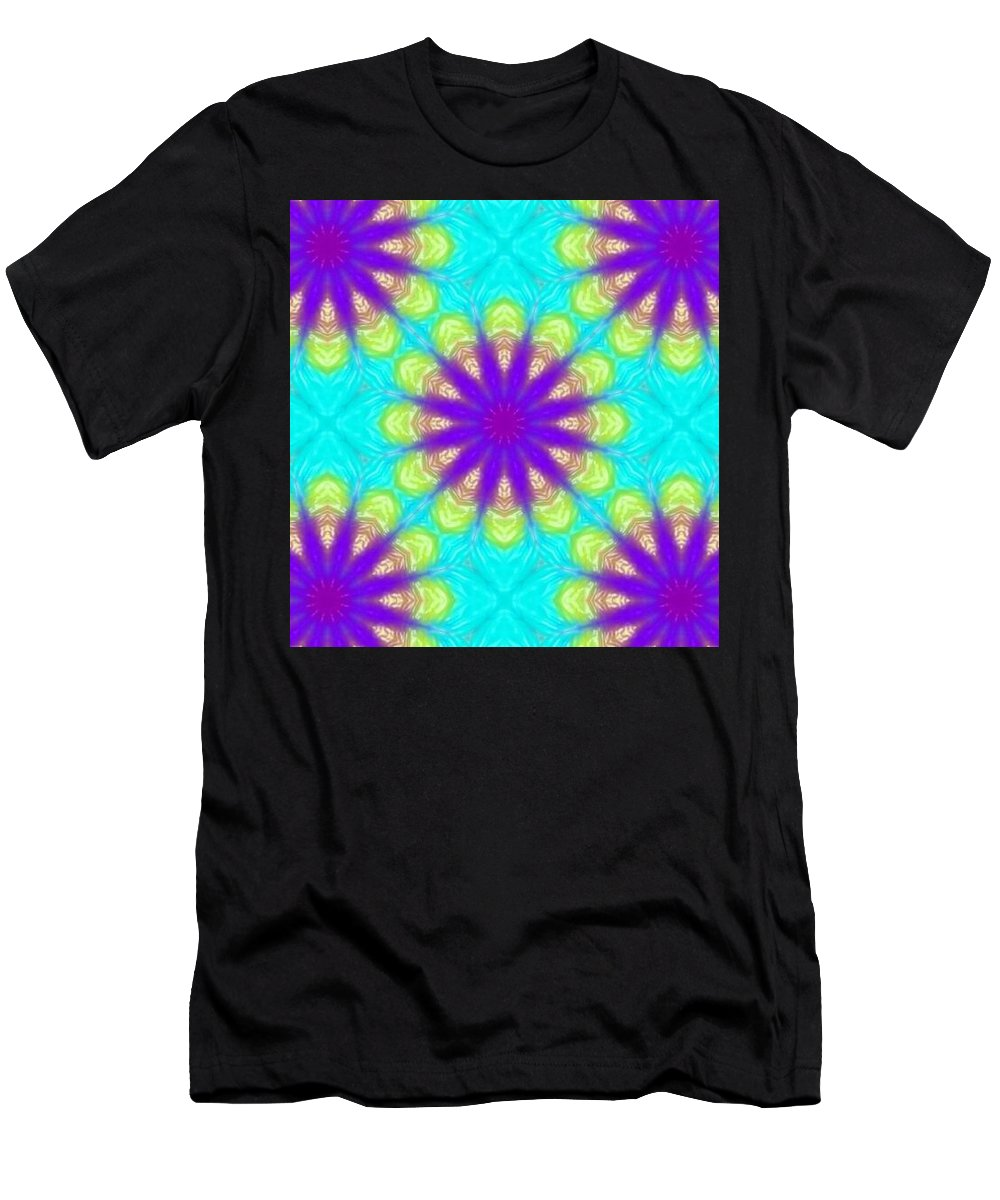Kaleidoscope Men's T-Shirt (Athletic Fit) featuring the digital art Kaleidoscope 5 by Kimberly Rose Bartlett