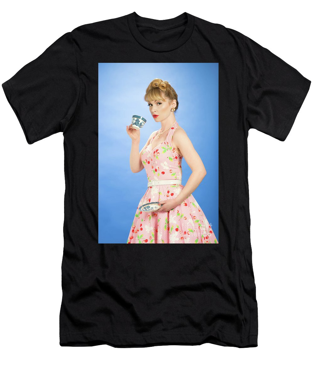 Pin Up Men's T-Shirt (Athletic Fit) featuring the photograph Pin Up Girl 7 by Amanda Elwell