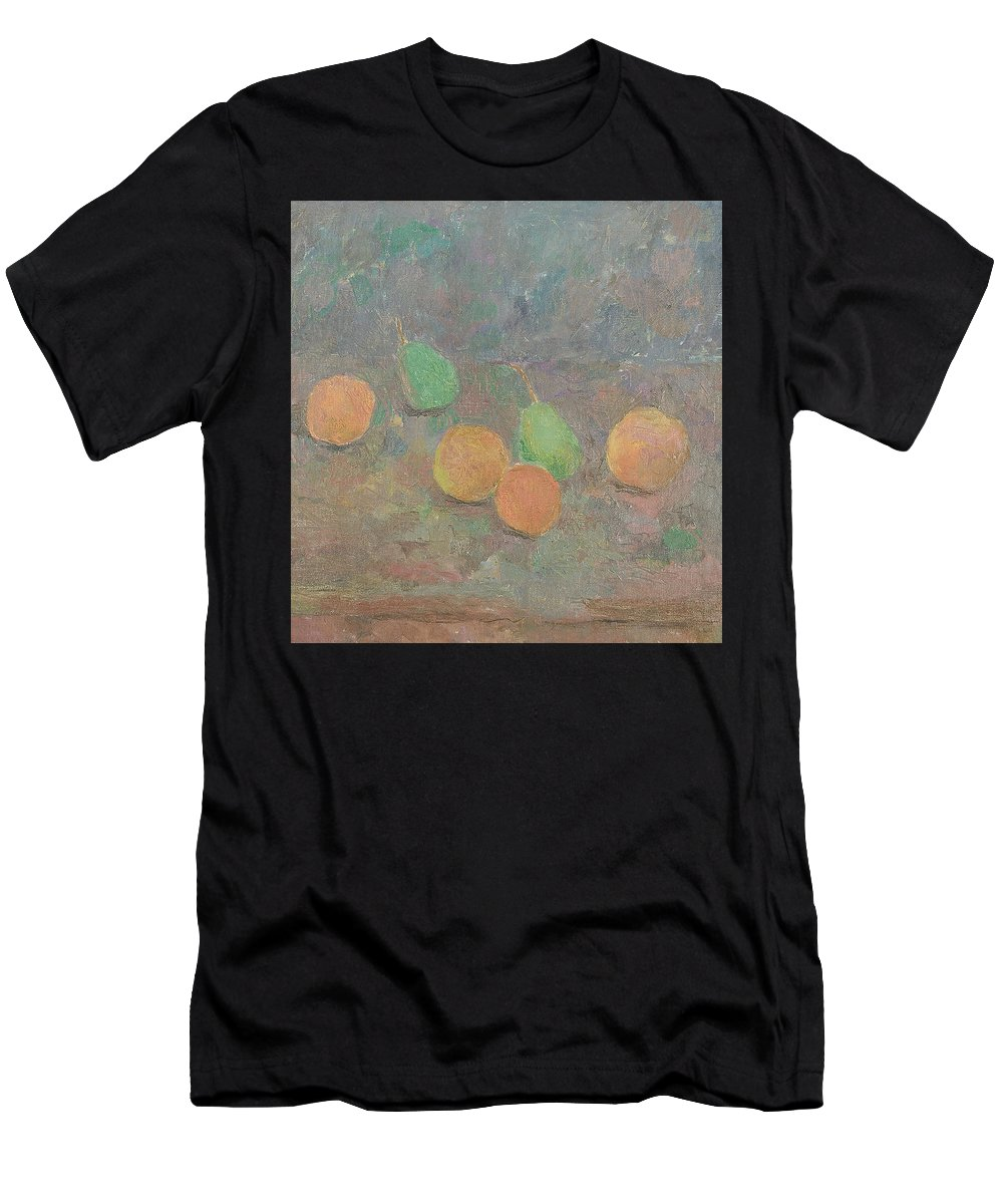 Pears Men's T-Shirt (Athletic Fit) featuring the painting Pears by Robert Nizamov