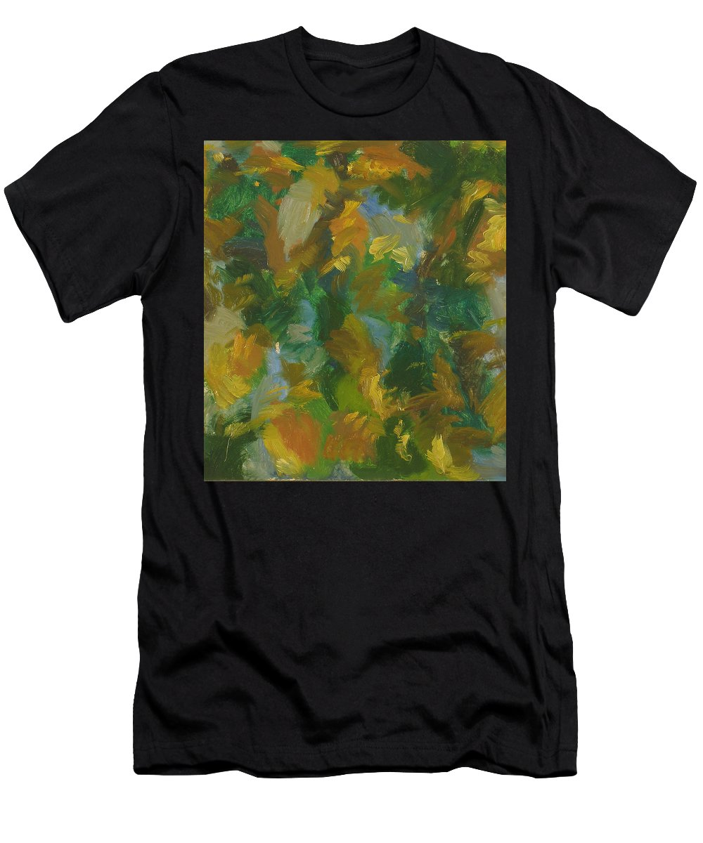 River Men's T-Shirt (Athletic Fit) featuring the painting River by Robert Nizamov