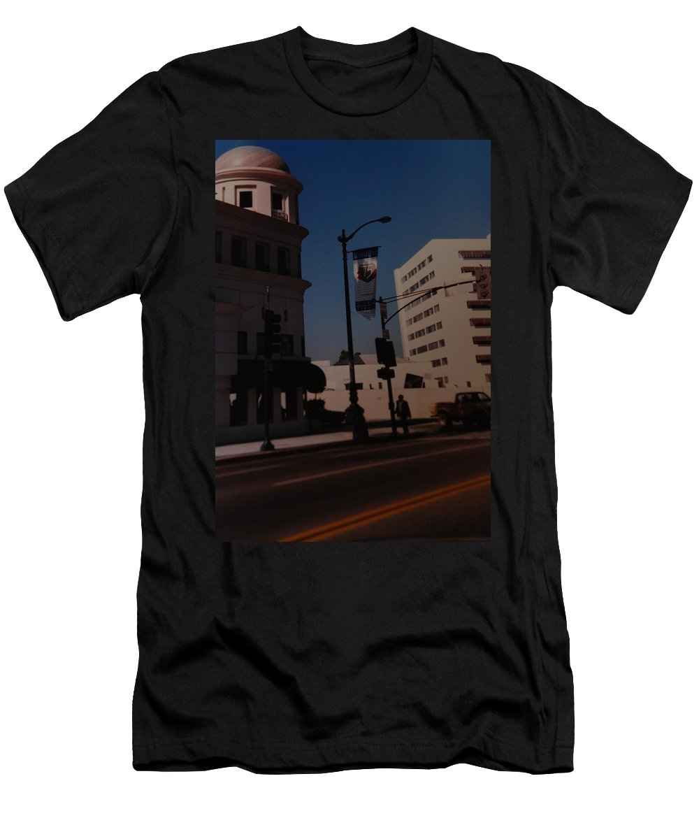 Hollywood California Men's T-Shirt (Athletic Fit) featuring the photograph 75th Hollywood by Rob Hans