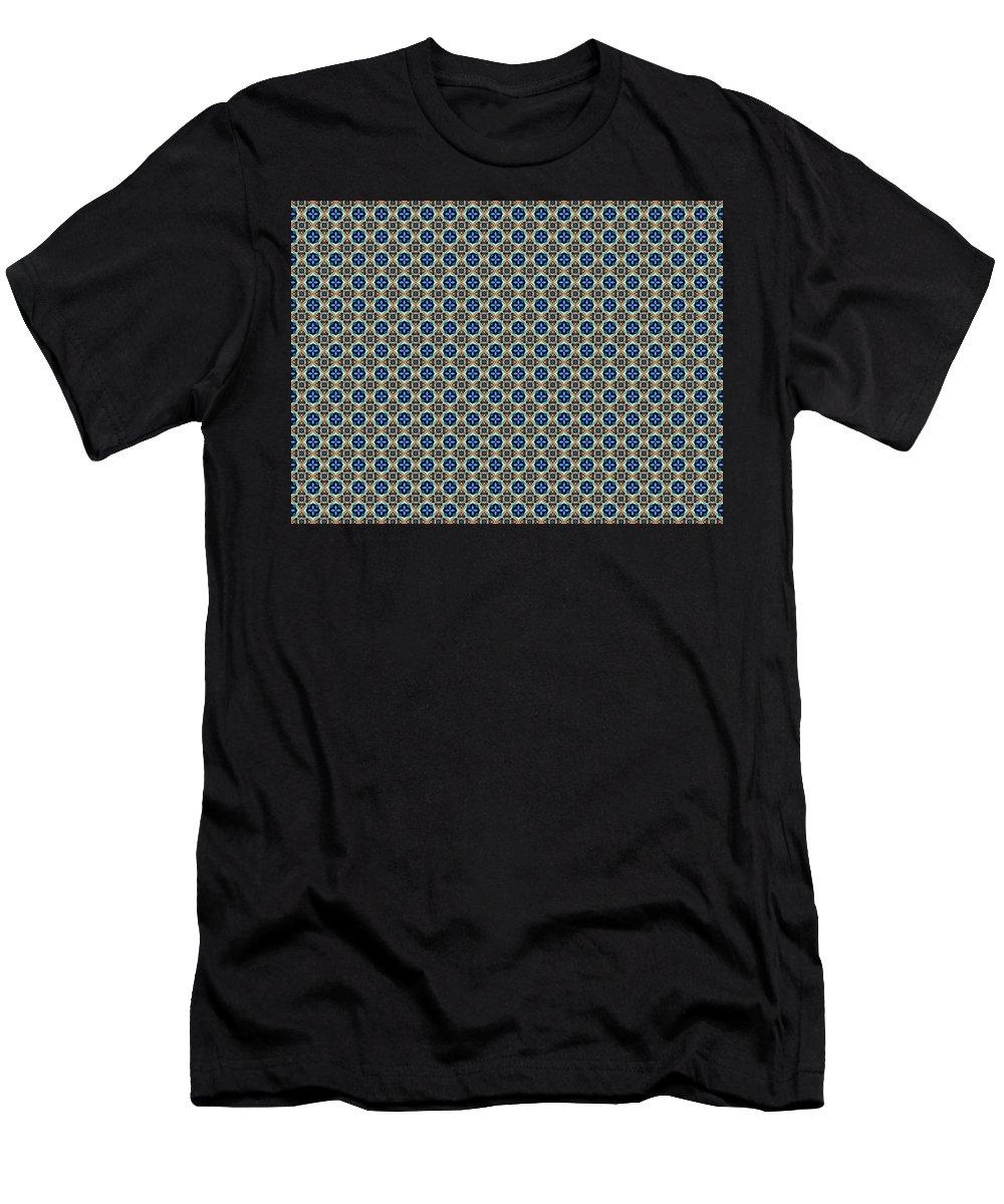 Marjan Mencin Men's T-Shirt (Athletic Fit) featuring the digital art Arabesque 038 by Marjan Mencin