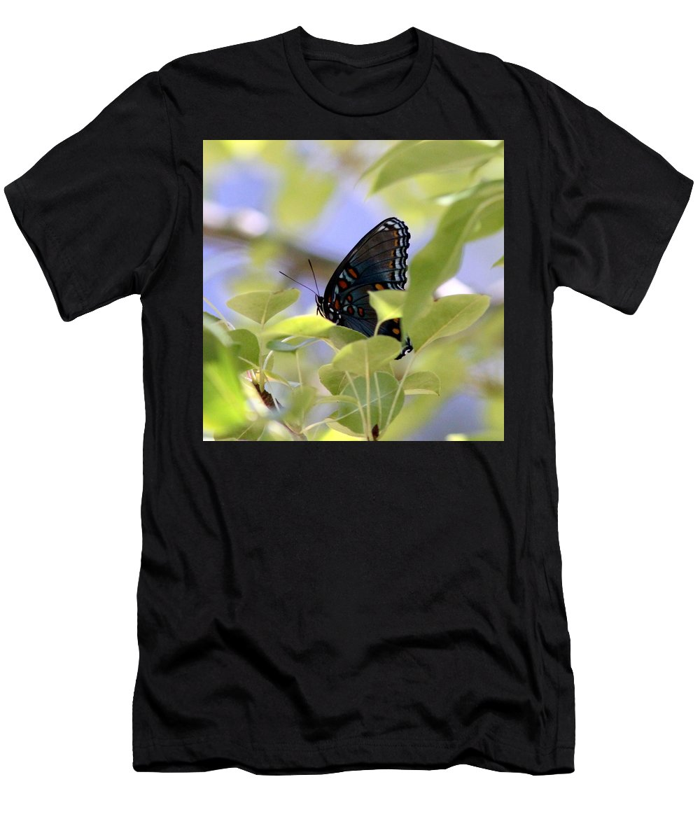 Butterfly Men's T-Shirt (Athletic Fit) featuring the photograph 7759 - Butterfly by Travis Truelove