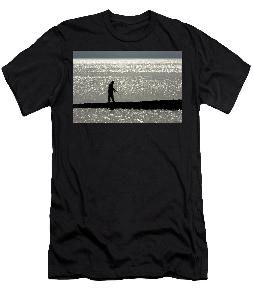 Men's T-Shirt (Athletic Fit) featuring the photograph 78. One Man And His Rod by Daron Lomax