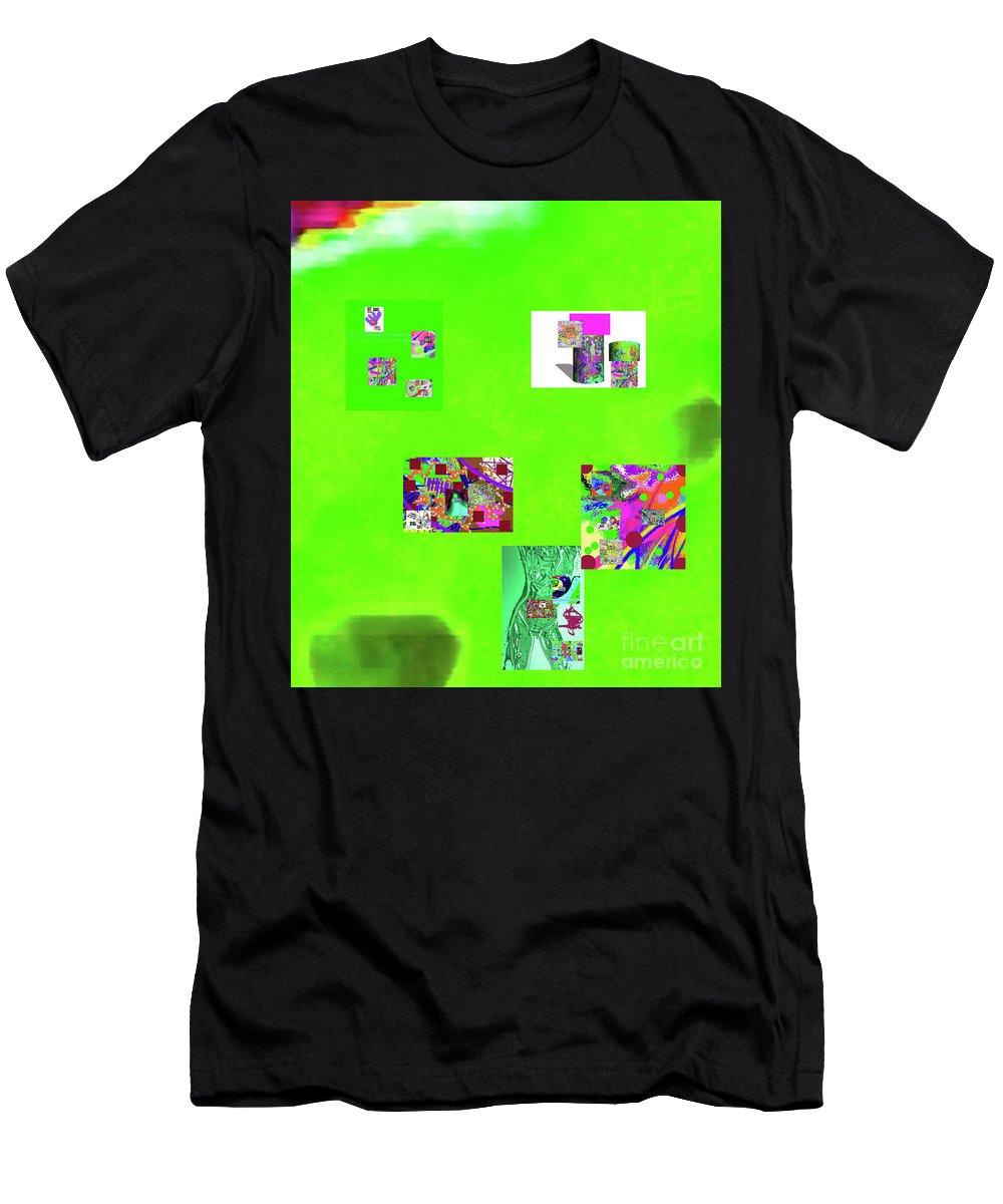 Walter Paul Bebirian Men's T-Shirt (Athletic Fit) featuring the digital art 8-10-2015abcdefghijklmnopq by Walter Paul Bebirian