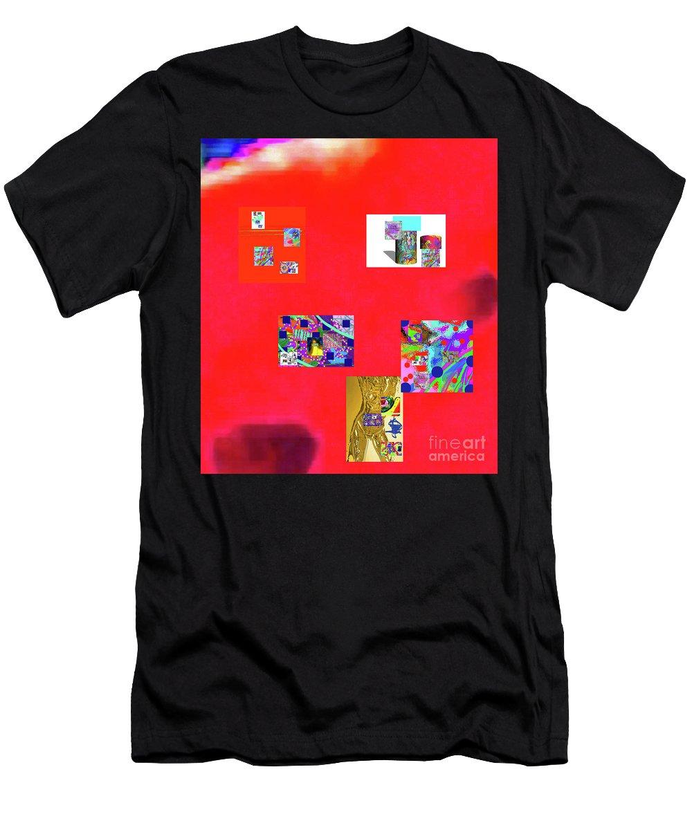 Walter Paul Bebirian Men's T-Shirt (Athletic Fit) featuring the digital art 8-10-2015abcdefghijklmnopqrtuvwwxyzab by Walter Paul Bebirian