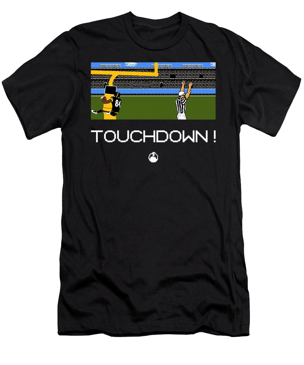 Men's T-Shirt (Athletic Fit) featuring the digital art 8-bit Boomin' by Center Field Smoke