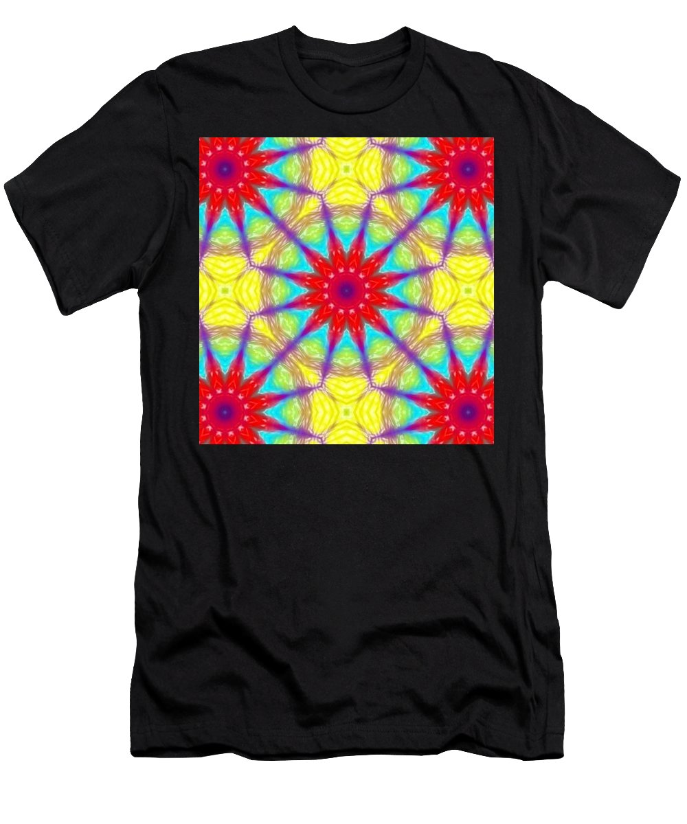 Kaleidoscope Men's T-Shirt (Athletic Fit) featuring the digital art Kaleidoscope 4 by Kimberly Rose Bartlett