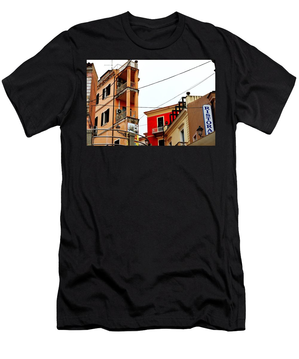 City Scene Men's T-Shirt (Athletic Fit) featuring the photograph La Maddalena -sardinia by Gianni Bussu