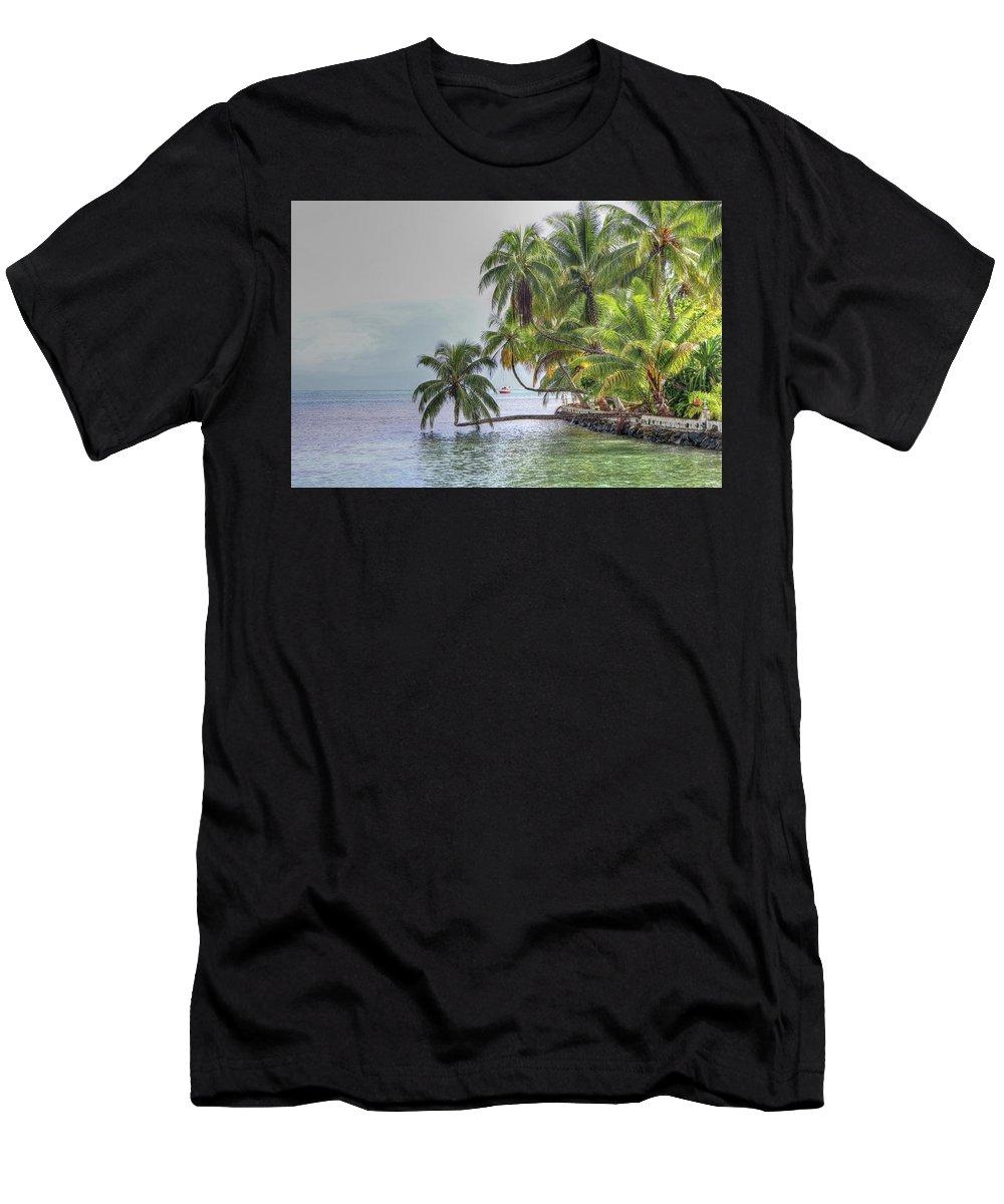 Moorea Tahiti Men's T-Shirt (Athletic Fit) featuring the photograph Moorea Tahiti by Paul James Bannerman