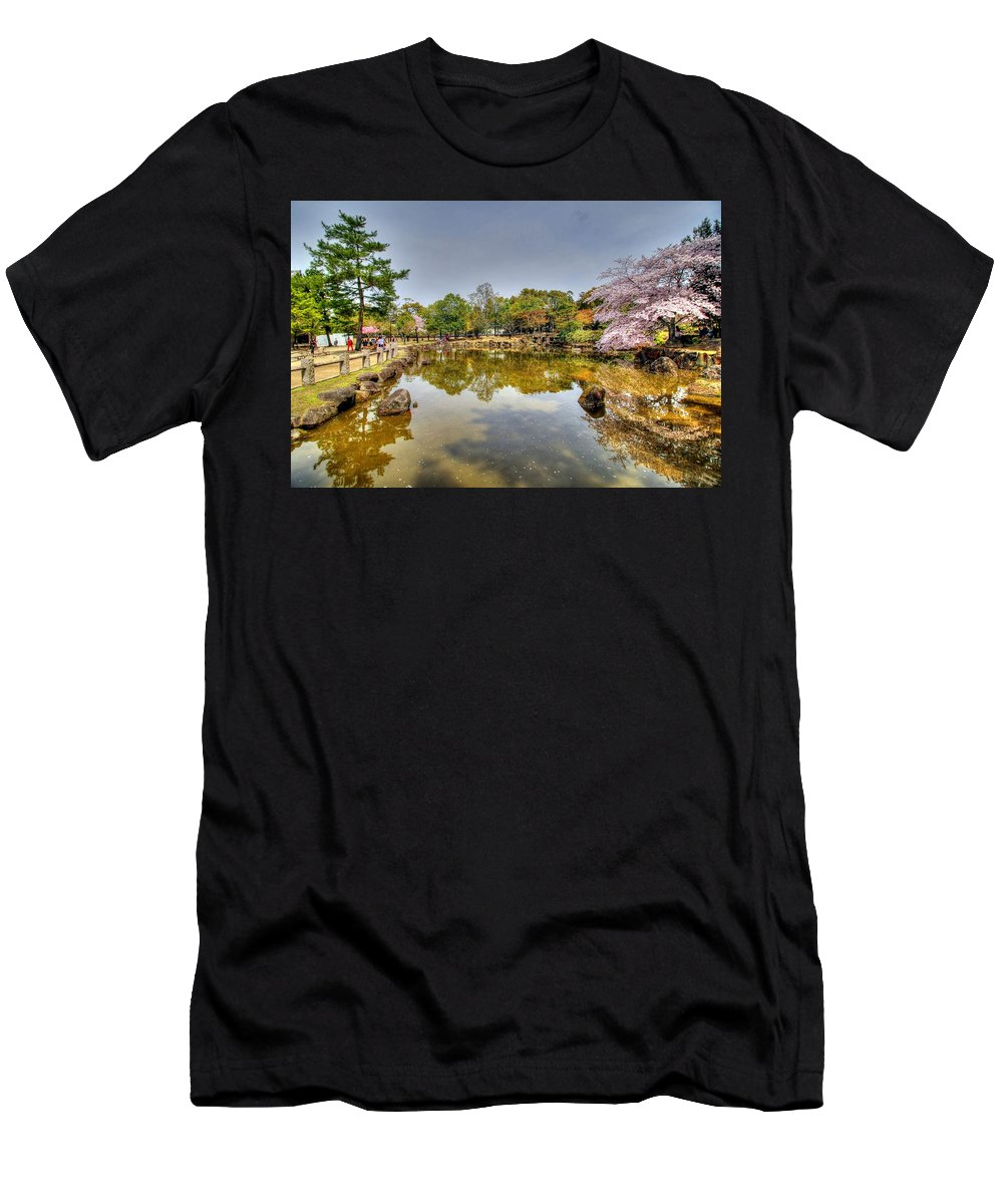 Nara Japan Men's T-Shirt (Athletic Fit) featuring the photograph Nara Japan by Paul James Bannerman
