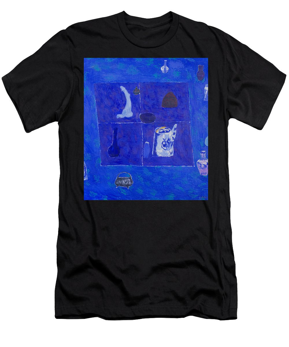 Blue Men's T-Shirt (Athletic Fit) featuring the painting Still Life by Robert Nizamov